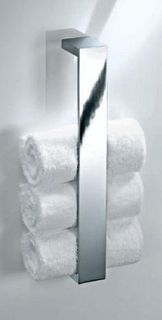 leuke oplossing voor handdoeken in de badkamer