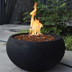 Concrete Fire Pits, Wood Burning Fire Pit, Concrete Pots, Diy Fire Pit, Fire Pit Backyard, Outdoor Fire Pits, Cozy Backyard, Backyard Retreat, Round Fire Pit Table
