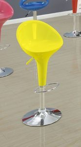 ACME 17702 Set of 2 Sybil Adjustable Air Lift Stool with Footstep, Yellow, 36-Inch