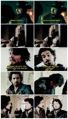 The Musketeers - Athos: Done with Aramis' shit since probably way before 1630...