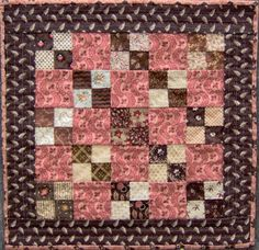 The Humble Stitcher: Doll Quilts Four Patch Small Quilts, Mini Quilts, Baby Quilts, Crib Quilts, Antique Quilts, Vintage Quilts, Patch Quilt, Quilt Blocks, Civil War Quilts