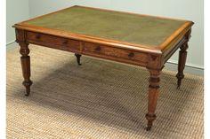 Magnificent Large Victorian Oak #Antique Partners Writing Desk | Vinterior London  #vintage #design #interiors #home