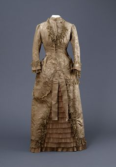 Dress,  c.1880-1882  From the Hull Museums