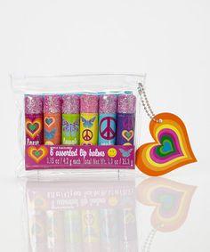 This Tri-Coastal Design Rainbow Bright Lip Balm Set by Tri-Coastal Design is perfect! #zulilyfinds
