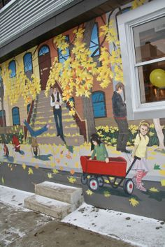 Mural just south of Gerrard Street, along Greenwood Avenue (along the Brickyard Grounds café)