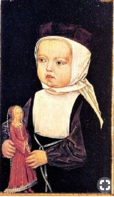 It's About Time: Children with Dolls - Archduke Charles, the later Holy Roman Emperor Charles V., with his sisters Eleonore and Isabella Detail of Isabella Renaissance, Medieval, Doll Painting, Children Images, Wooden Dolls, Middle Ages, Antique Dolls, Art Dolls, Folk Art