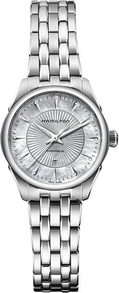 Hamilton Watch American Classic Jazzmaster Lady Auto #bezel-fixed #bracelet-strap-steel #brand-hamilton #case-depth-10-49mm #case-material-steel #case-width-30mm #date-yes #delivery-timescale-call-us #dial-colour-silver #gender-ladies #luxury #movement-automatic #official-stockist-for-hamilton-watches #packaging-hamilton-watch-packaging #style-dress #subcat-american-classic-jazzmaster #supplier-model-no-h42215111 #warranty-hamilton-official-2-year-guarantee #water-resistant-50m