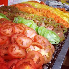 Heritage tomato tart tatin