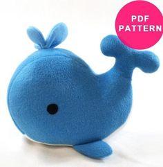 Plush Whale Stuffed Animal Pattern