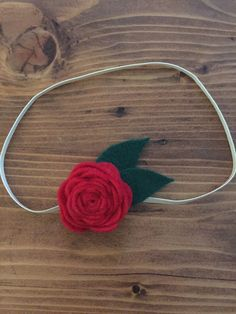 Red Rose Baby Headband, Felt Flower, Baby, toddler headband, Christmas Red, christmas gift by HaidlesBoutique on Etsy https://www.etsy.com/listing/257961018/red-rose-baby-headband-felt-flower-baby