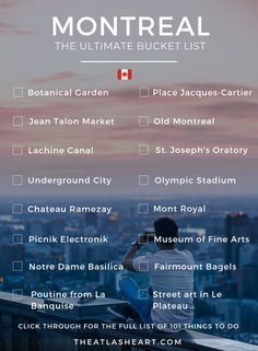 101 Things to Do in Montreal The best things to do in Montreal! These are the places to eat, visit, and local experiences to have around my favorite city in Canada. Quebec Montreal, Montreal Travel, Old Montreal, Montreal Ville, Quebec City, Toronto Travel, Pvt Canada, Canada Vancouver, Visit Canada
