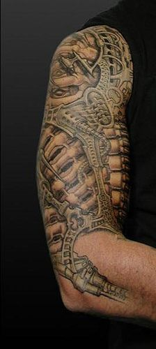 biomechanical tattoo arm