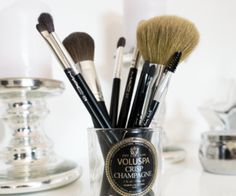 DIY Voluspa Candle Brush holder - The Silver Notebook