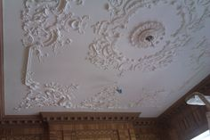 English Rococo ceiling in Mayfair. Newly modeled to a 18th century drawing by Issac Ware. Now part of the Grade I listing.