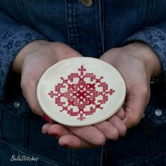 Bela Stitches: cross stitch on clay