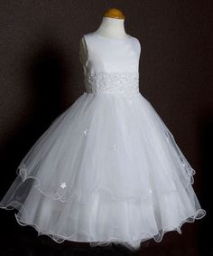 Flower girls dresses Beaded baptism girls dresses Prom Wedding Dresses Brides #HolyCommunionChristmasEasterFirstCommunionNewYearDressyEverydayHolidayPageantWedding