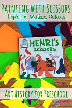 Painting with Scissors - Exploring Matisse Cutouts The first activity in our Exploring Art History with Preschoolers series. We begin by examining a simple technique by the Modern master, Henri Matisse. Matisse Cutouts - Painting with Scissors Henri Matisse, Matisse Art, Matisse Paintings, Art Paintings, Matisse Cutouts, Art Lessons Elementary, Preschool Art Lessons, Preschool Projects, Preschool Curriculum