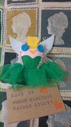 Tinkerbell leftover Larry owl www.Facebook.com/underelectriccandlelight