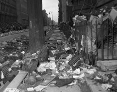 Spilling out! The junk heaved from the Collyer house piles up on Fifth Ave.