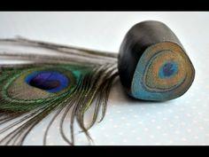 Кейн Перо павлина из FIMO\Cane peacock feather from FIMO - YouTube