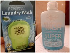 Sea to Summit Washing Products: Pocket Laundry Wash vs Wilderness Wash. Great for handwashing littles!