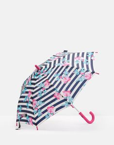 1626e386aa Joules US JUNIOR Girls Fulton Umbrella Margate Floral Stripe Fulton  Umbrella, Floral Stripe, Joules
