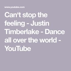 Friend are dancing all over the world for creating this videoclip. Thanks to all who were part of this video, also thanks for those, who were behind the came. Justin Timberlake Dance, You Youtube, All Over The World, Dancing, Thankful, Songs, Feelings, Video Clip, Dance