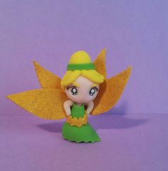 Tinkerbell chibi doll polymer clay princess disney by LucyMiu, €10.50