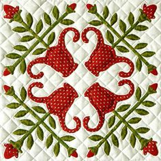 Come Quilt (Sue Garman): Finally. Some New Quilts! Applique Quilt Patterns, Applique Templates, Hand Applique, Aplique Quilts, Patch Aplique, Quilting Projects, Quilting Designs, Bird Quilt, Sampler Quilts