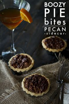 Pecan Sidecar Boozy Pie Bites - One of three boozy drink inspired mini ...