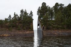 in the wake of the terrorist attacks on july 22, 2011 on the government quarter in oslo and the island of utøya in norway, the government established a committee to produce two memorial sites in commemoration of the tragic loss of 77 victims. the unanimous winning proposal has been designed by swedish artist jonas dahlberg, who has visualized 'memory wound', a metaphorical trauma splitting the earth in half.
