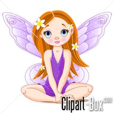 CLIPART SITTING FAIRY