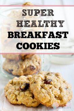 Breakfast Cookies Recipe  -  honey, cinnamon, vanilla, almond, yogurt or buttermilk, wheat flour, oats, chocolate chips or raisins.     lj
