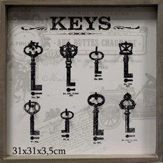 Vešiak  na kľúče 8 háčikov Retro Vintage, Nostalgia, Gallery, Gifts, Home Decor, Flat, Ideas, Store, Country Cottage Decorating