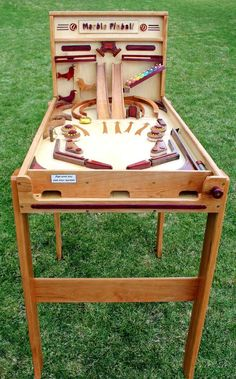 Woodworking plan for building a wood Marble Pinball game Like marble drops & run in Crafts, Home Arts & Crafts, Woodworking | eBay: