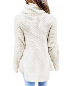 35550dc5a963b0 Womens Cowl Neck Sweaters Long Sleeve Chunky Turtleneck Sweater Knit  Oversized Pullover     Check