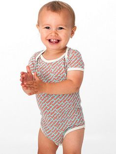 Printed Infant Sheer Jersey One-Piece
