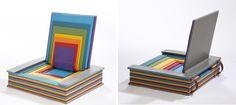 Rainbow Book Chair by Chen Liu