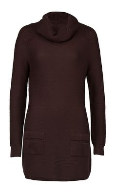 """MOLASSES"" brown turtleneck sweater 
