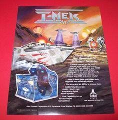 On Sale... T MEK By ATARI 1994 ORIGINAL NOS VIDEO ARCADE GAME SALES FLYER TMEK #Tmek #Atari #VideoGameFlyers