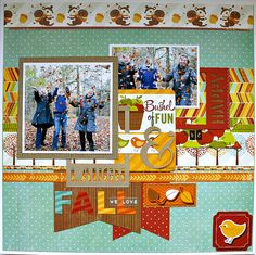 #papercraft #scrapbook #layout    Laugh and be Happy - Imaginisce - Scrapbook.com