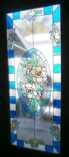 I wanted the look of stain glass windows and doors in my old Victorian House.  I knew I couldn't afford to hire a professional artist, so I learned how to do faux stain glass.