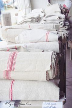 as curtains, as table covers, as towels, as chair seat covers!