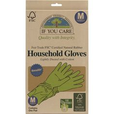 If You Care Fair Rubber Latex Household Gloves - Medium - If You Care