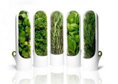 Mini bac à conservation d'herbes aromatiques fraîches 19eur  #blanc #plastique #industriel