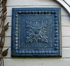 Vintage Ceiling Tin Tile. 2'x2'. 10th Tin by DriveInService