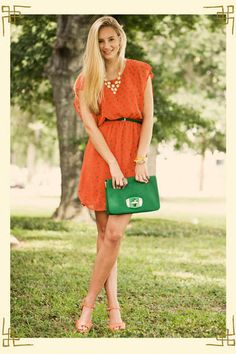 Give a Hoot Dress...it has tiny green owls all over!
