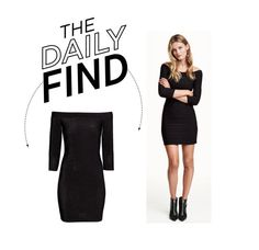 """Daily Find: H&M Off-Shoulder Dress"" by polyvore-editorial ❤ liked on Polyvore featuring H&M and DailyFind"