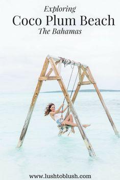coco plum beach exuma bahamas, swing in water, swing in ocean, swings on the beach, the bahamas, bahamas, it's better in the bahamas, Caribbean, Caribbean travel, travel