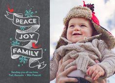 Peace Joy Family on Chalkboard